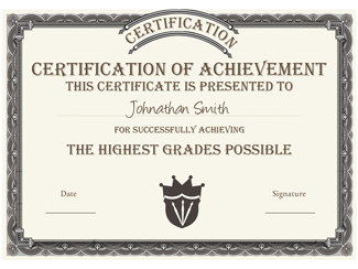 Certificate of Achievement 02