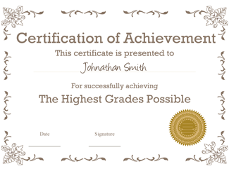 Certificate of Achievement 03