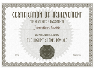 Certificate of Achievement 04